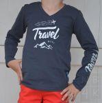 Jongens Shirt lange mouw Navy Blue - Travel